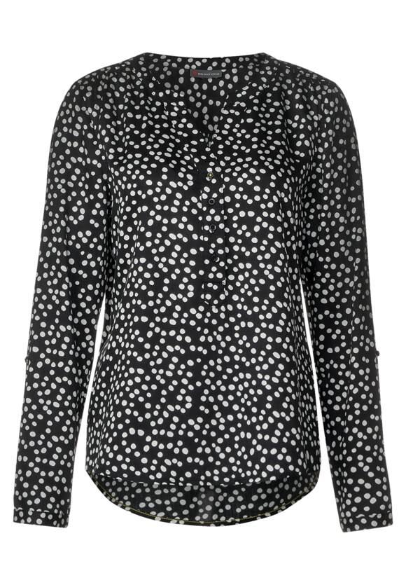 STREET ONE Bluse Bamika mit Punkten Black   STREET ONE Online Shop