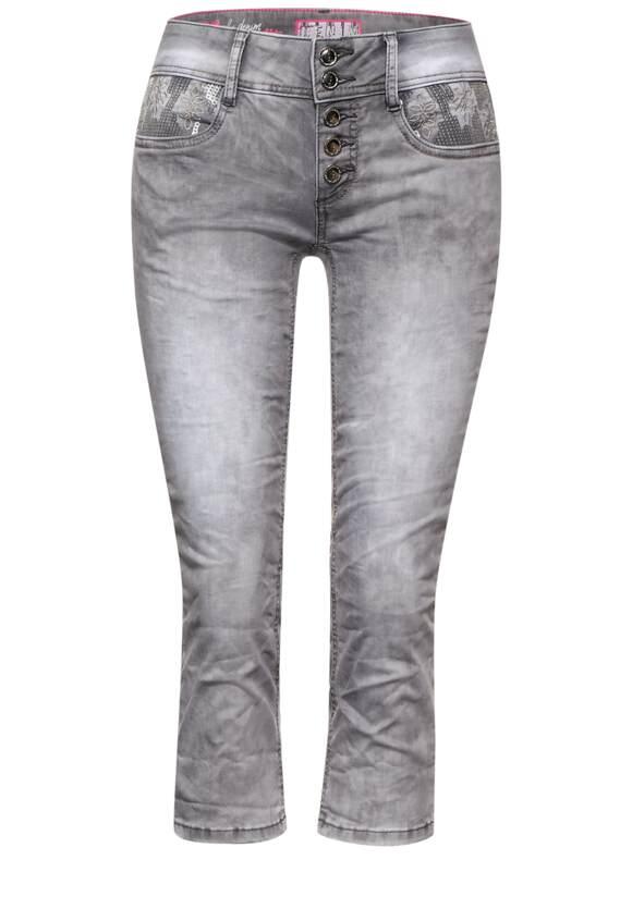 Casual fit broek in 3 4 lengte