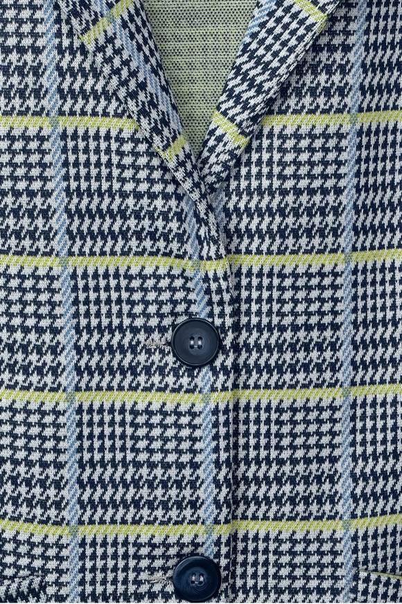 Karo-Style Blazer Jordis - deep blue