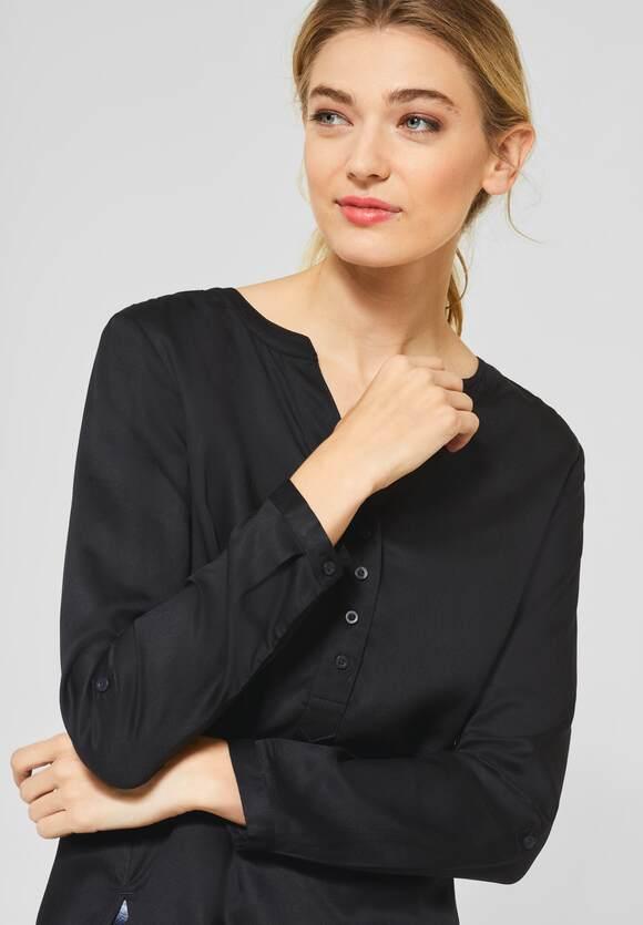 STREET ONE Bluse Bamika im Basic Style Black   STREET ONE Online Shop