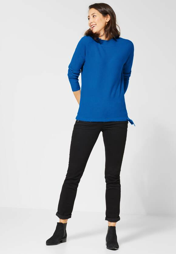 STREET ONE Basic pullover Etti active blue | STREET ONE Online Shop