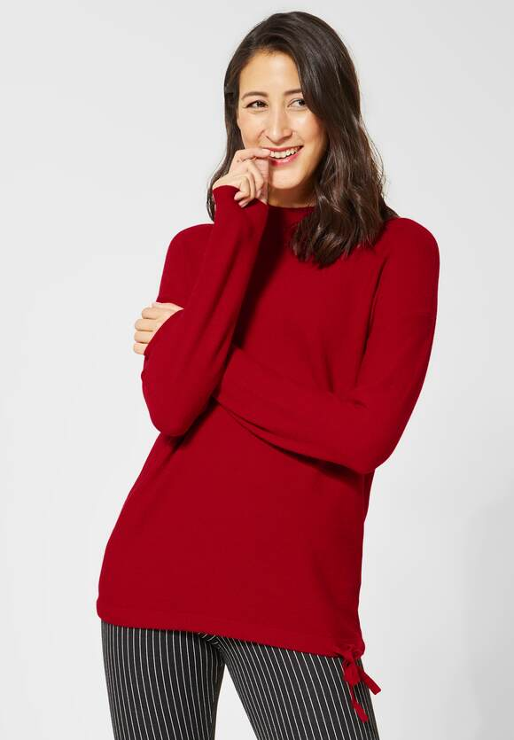 STREET ONE Basic pullover Etti love red | STREET ONE Online Shop