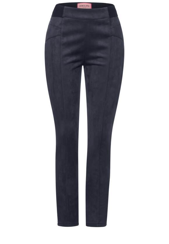 Slim fit broek in velours