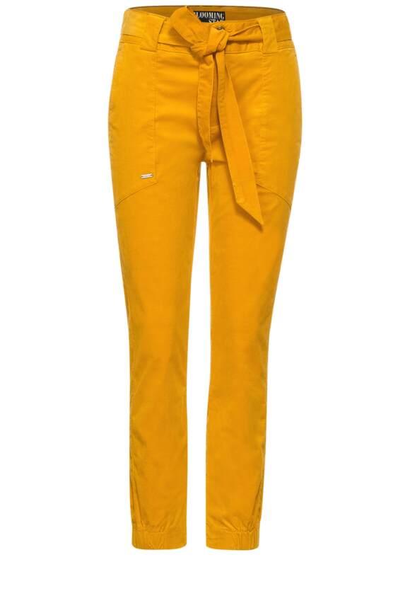 Loose fit broek met riem