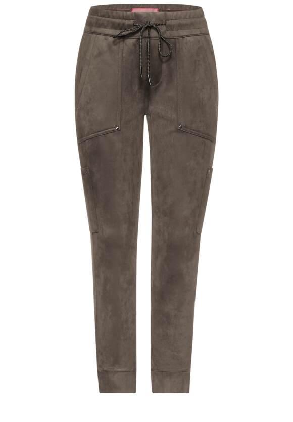 Loose fit broek in velours look