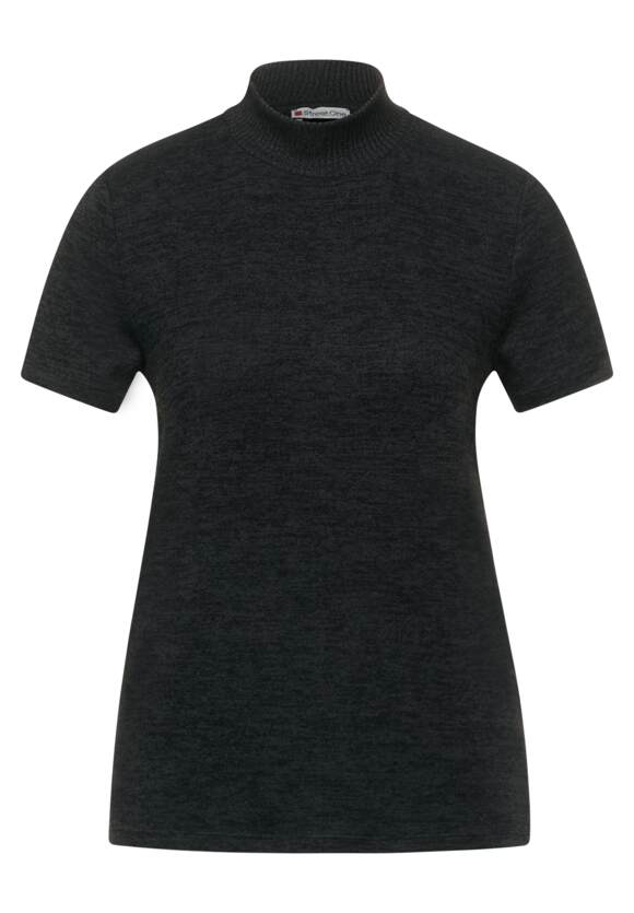 Basic t shirt met opstaande kraag