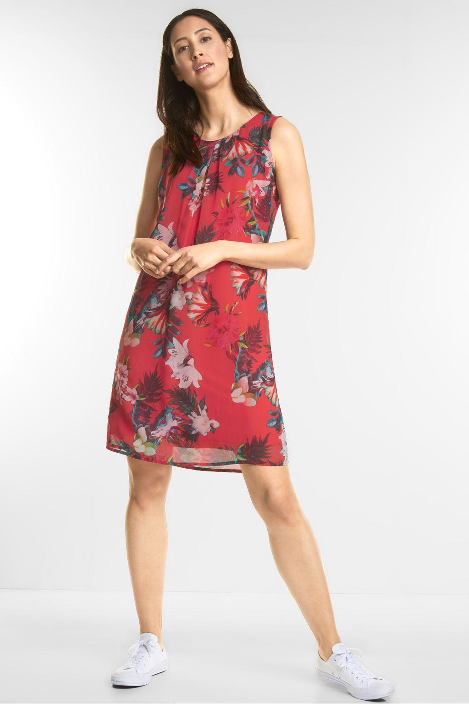 Modisches Print Kleid - hibiscus red - STREET ONE Online-Shop