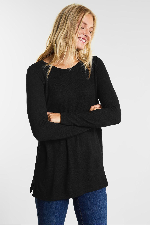 Zacht shirt van jersey  - Black
